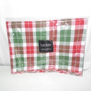 Lauren Ralph Lauren Plaid Set of 4 Placemats